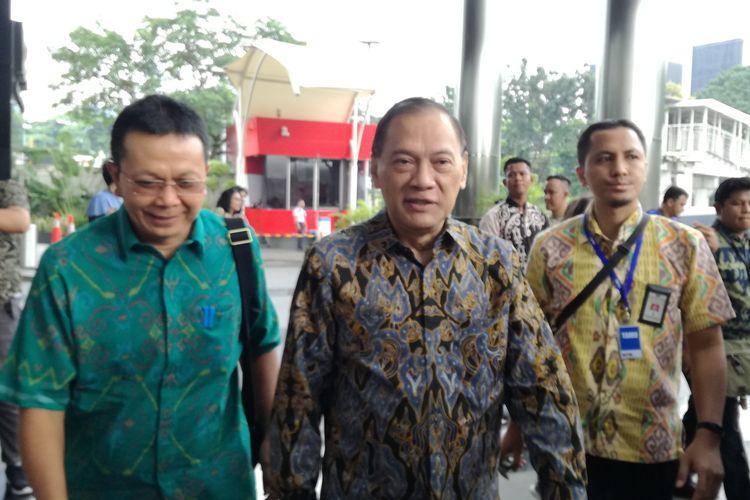 Mantan Menteri Keuangan, Agus Martowardojo di Komisi Pemberantasan Korupsi (KPK), Jumat (17/5/2019).