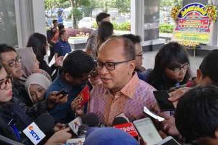 Ketua Kadin Indonesia Rosan  P Roeslani di Kompleks Kementerian Keuangan, Jakarta, Kamis (21/7/2016).