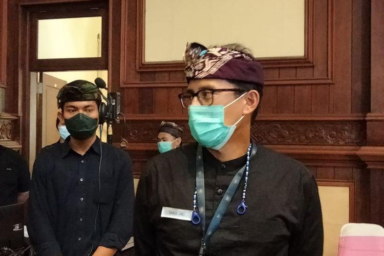 Menteri Pariwisata dan Ekonomi KreatifSandiaga Unomulai berkantor diBali, Kamis (28/1/2021).