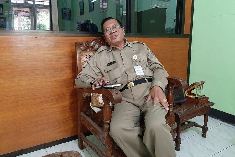 Kepala Dinas Pertanian dan Pangan Gunungkidul, Bambang Wisnu Broto di Kantonya Senin (10/6/2019)