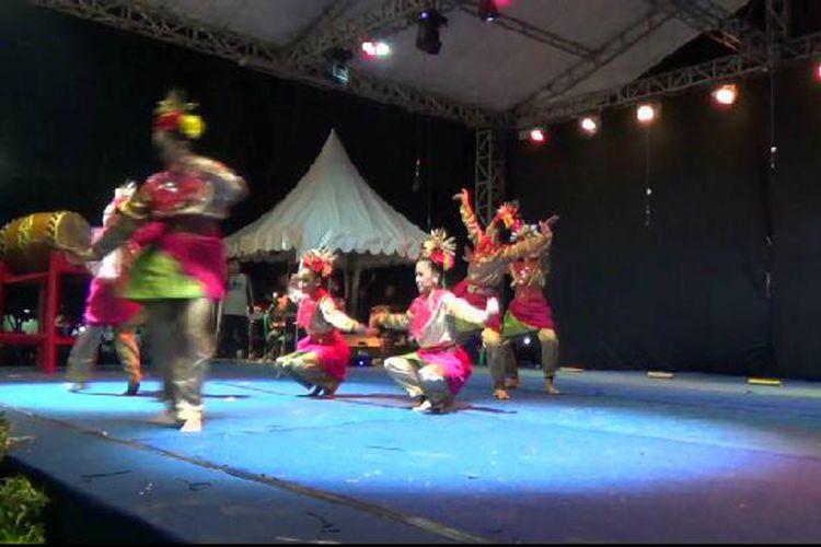 Peserta festival budaya daerah Pangkal Pinang Kepulauan Bangka Belitung.