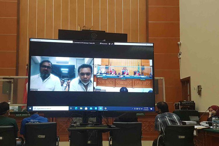 Suasana sidang lanjutan John Kei di Pengadilan Negeri Jakarta Barat Rabu (10/3/2021).