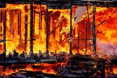 Pasar Kuok Pesisir Selatan Terbakar, 32 Toko Ludes Dilalap Api