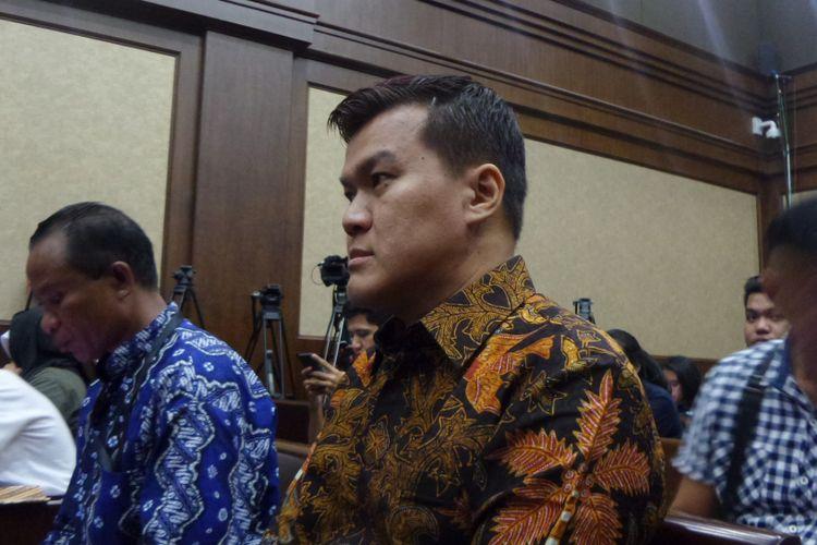 Pengusaha Andi Agustinus alias Andi Narogong di Pengadilan Tipikor Jakarta, Senin (29/5/2017).