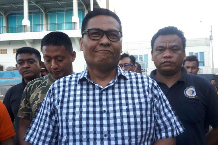 Kabid Humas Polda Metro Jaya Kombes Argo Yuwono di Pelabuhan Muara Baru, Minggu (24/2/2019).