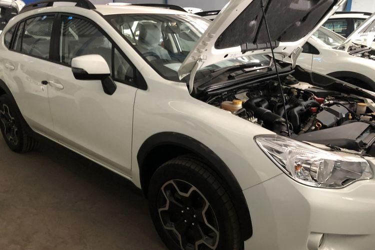Salah satu mobil Subaru yang akan dilelang oleh Ditjen Bea Cukai pada Kamis (12/12/2019)