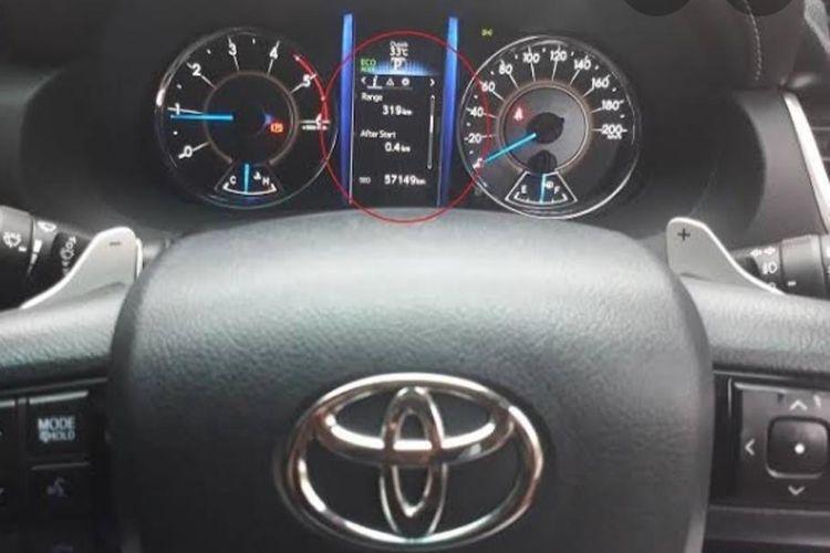 range pada speedometer