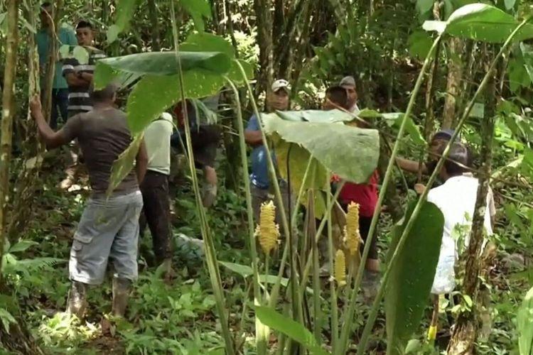 Warga lokal berada di lokasi yang disebut merupakan kuburan sebuah sekte sesat di Panama. Setidaknya satu ibu hamil dan lima anaknya masuk dalam tujuh korban tewas setelah disiksa kelompok tersebut karena dianggap berdosa.