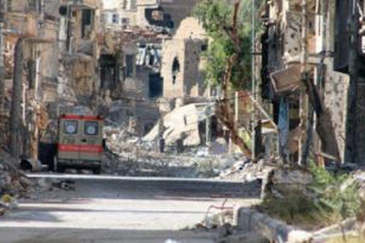 Konflik yang sudah berlangsung dua tahun lebih memporakporandakan Suriah.