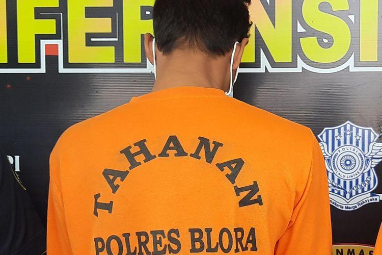 Polres Blora tangkap pengedar uang palsu dirilis di Mapolres Blora, Selasa (16/3/2021)