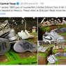 Disita, 1.800 Pasang Sneaker Air Jordan 1 X Dior Palsu