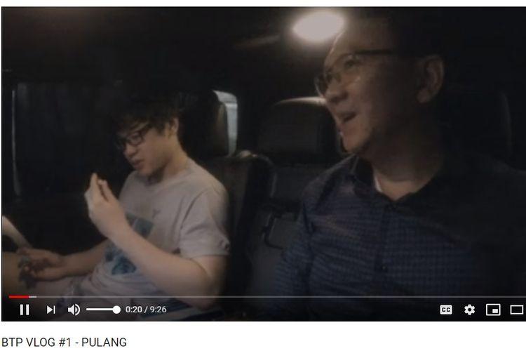 Vlog pertama mantan Gubernur DKI Basuki Tjahaja Purnama atau Ahok bersama putra sulungnya Nicholas Sean.