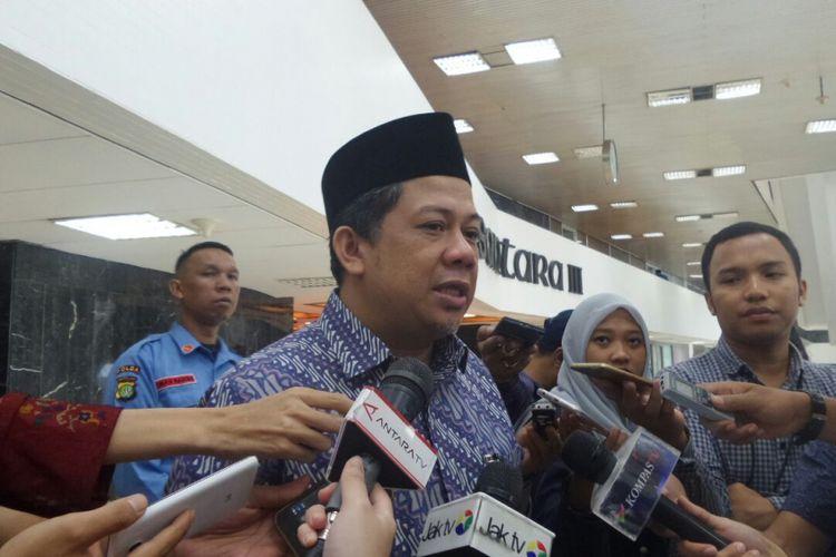 Wakil Ketua DPR RI Fahri Hamzah di Kompleks Parlemen, Senayan, Jakarta, Senin (3/7/2017).