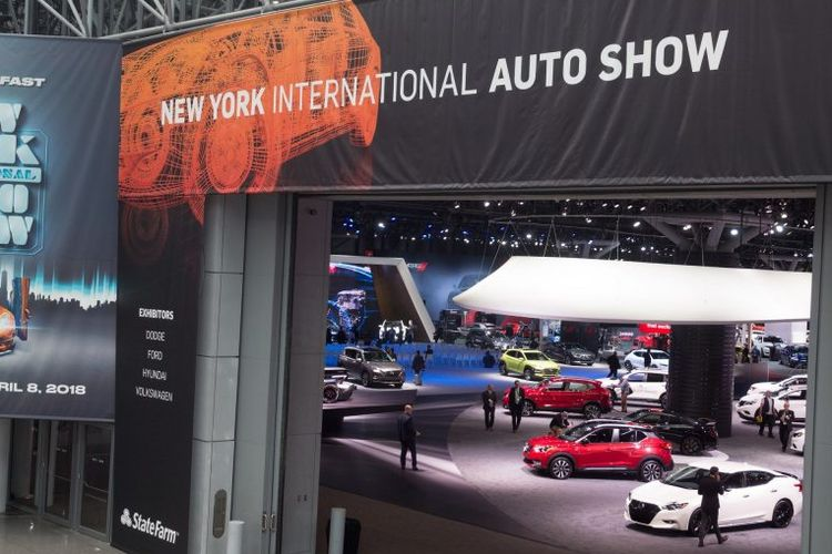 Ilustrasi pameran otomotif New York International Auto Show