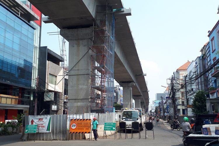 Kondisi pembangunan MRT di Panglima Polim, Jakarta Selatan