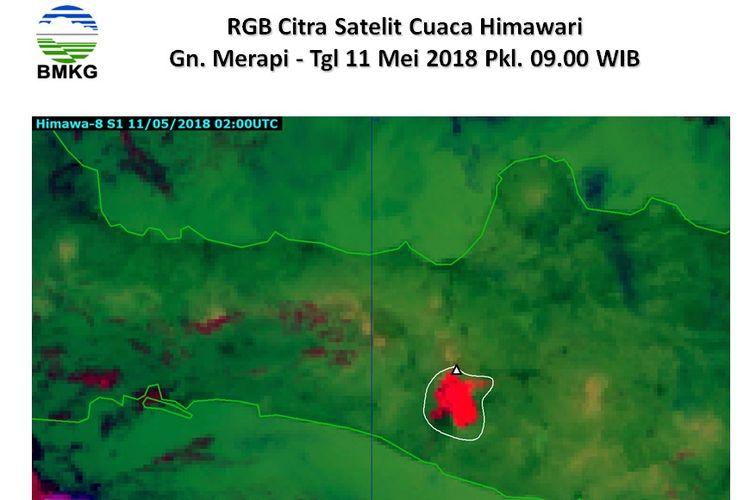 Citra Satelit Himawari Gunung Merapi Pergerakan debu vulkanik