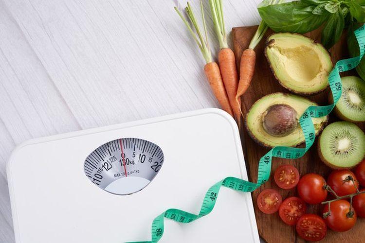 Ilustrasi diet atau menurunkan berat badan.