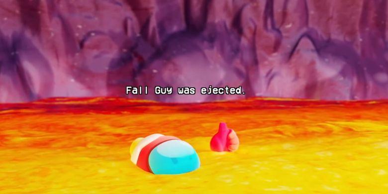 Potongan video trailer Fall Guys season 4 yang memperlihatkan crossover dengan Among Us