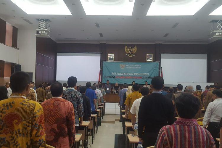 Tes psikologi calon pimpinan KPK 2019-2023, Minggu (28/7/2019).