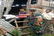 Danramil Woha Serahkan Sembako untuk Siti Aisyah, Nenek Lumpuh yang Tinggal Sebatang Kara