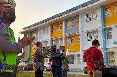 Hibur Pasien Covid-19, Kapolres dan Ketua DPRD Tegal Bernyanyi di Halaman Gedung Isolasi