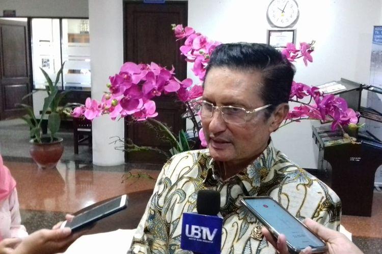 Wakil Ketua MPR RI Fadel Muhammad saat menghadiri sebuah acara di Gedung Rektorat Universitas Brawijaya (UB) Kota Malang, Senin (28/10/2019).
