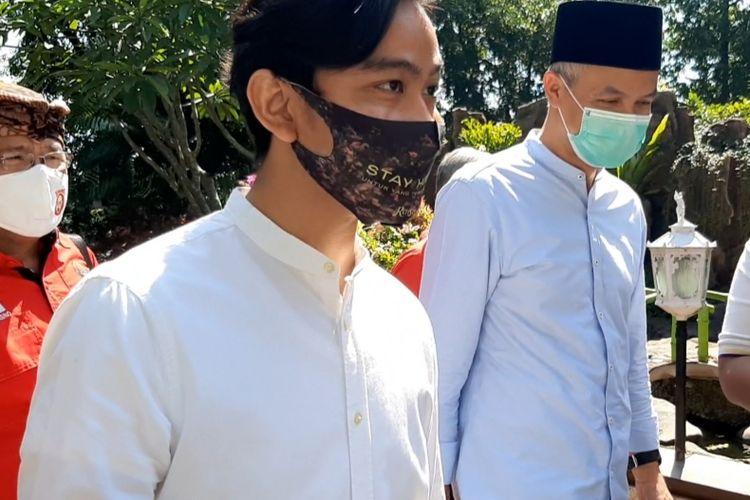 Gibran Rakabuming Raka saat sowan ke rumah dinas Gubernur Jawa Tengah Ganjar Pranowo di Puri Gedeh Semarang, Jumat (17/7/2020).
