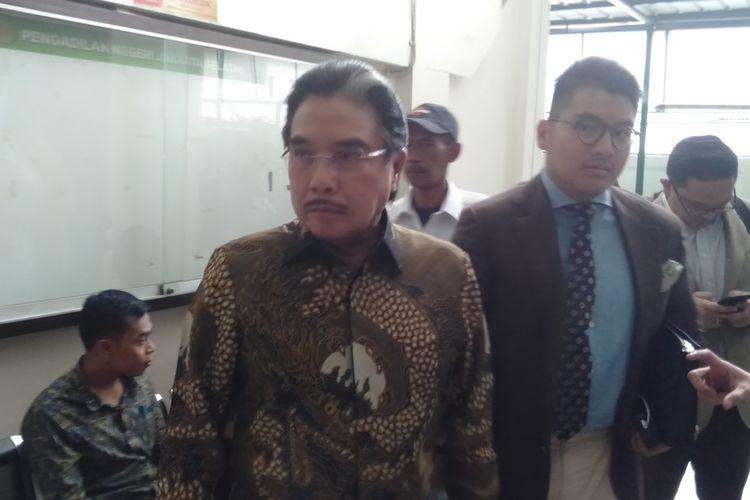 kuasa hukum Ari Darmawan, Hotma Sitompoel di Pengadilan Negeri Jakarta Selatan, Selasa (18/2/2020)