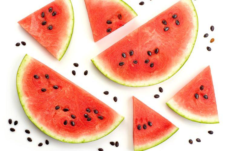Ilustrasi buah semangka.