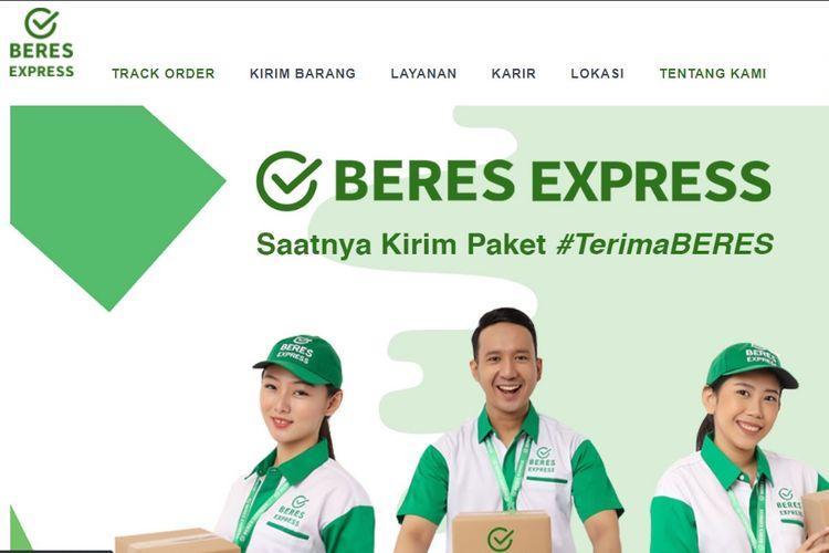 Tampilan website Beres Express.