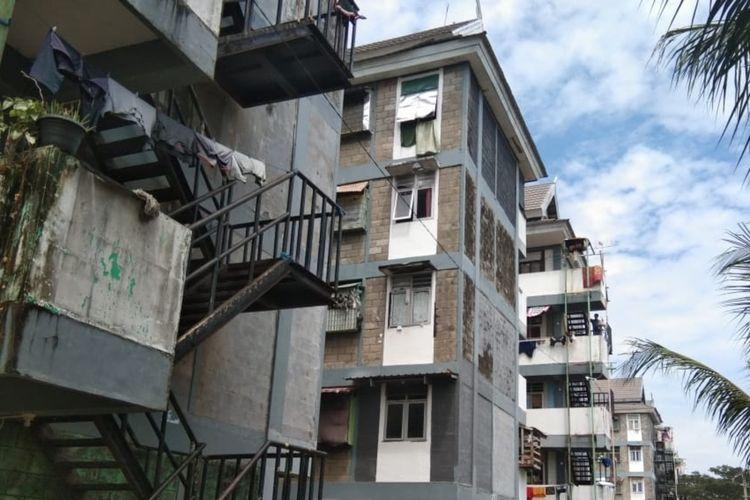 Rumah Susun Warga (Rusunawa) di Kelurahan Lette, Kecamatan Mariso, Makassar, Selasa (4/8/2020).