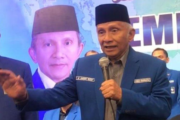 Politisi Senior PAN Amien Rais.