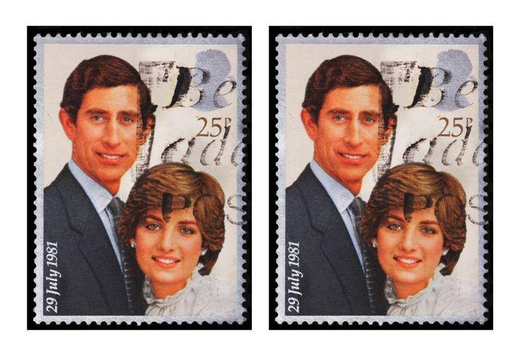 Perangko menjelang pernikahan Pangeran Charles dan Putri Diana pada 29 Juli 1981.