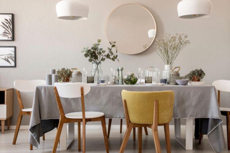 Ilustrasi ruang makan.