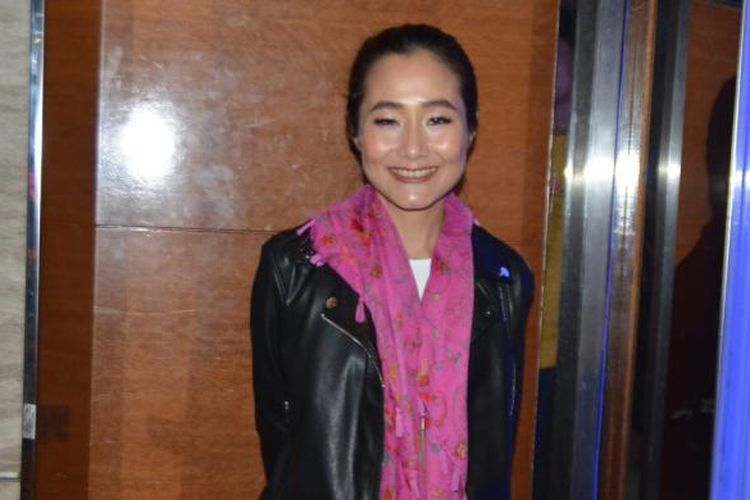 Melissa Karim menghadiri pemutaran film Bukaan 8, di XXI Epicentrum, Kuningan, Jakarta Selatan, Senin (20/2/2017).