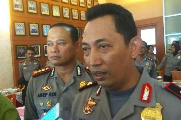 Kapolda Banten Kombes Listyo Sigit Prabowo usai jumpa pers pengamanan Pilkada Banten di Mapolrestro Tangerang, Kamis (16/2/2017).