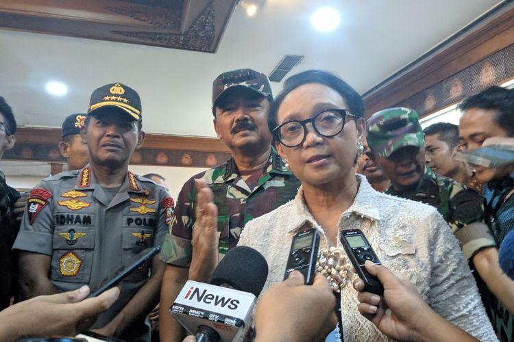 Menteri Luar Negeri Retno Marsudi di Ruang VIP Terminal 1 Bandara Soekarno-Hatta, Jumat (28/2/2020)