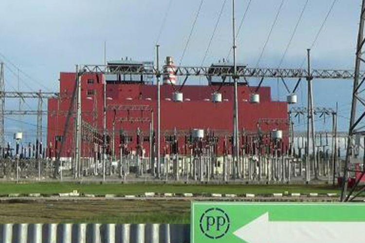 Pembangkit listrik PLN di daerah Air Anyir Bangka, Kepulauan Bangka Belitung.