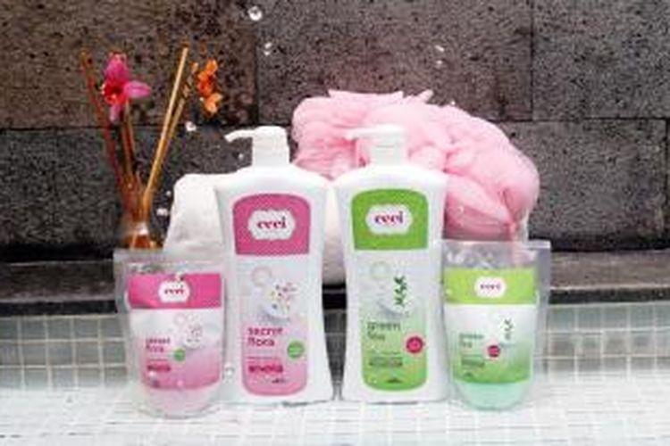 Rangkaian produk Ceci moisturizing shower cream.