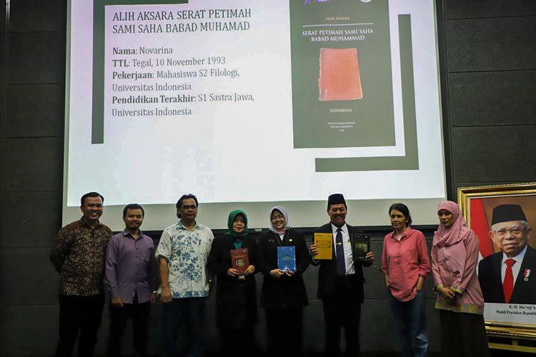 Jaga Kekayaan Naskah Nusantara, Perpusnas Terbitkan 150 Buku
