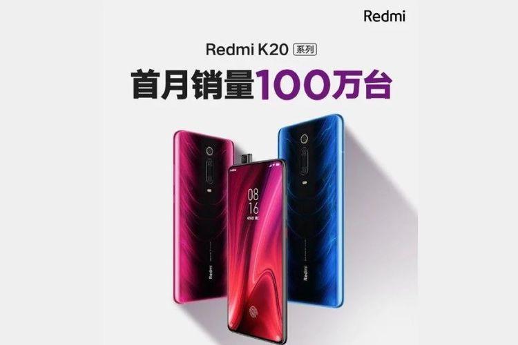 Poster Redmi K20 terjual 1 juta unit