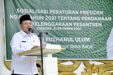 Peringati HSN 2021, Wagub Uu Nyatakan Kesiapan Pemprov Jabar Bina Ponpes