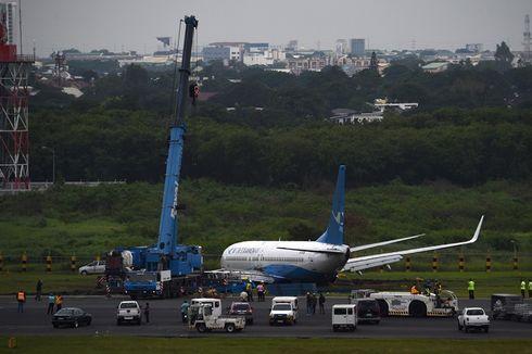 Akibat Hujan Deras, Jet Penumpang China Tergelincir di Bandara Filipina