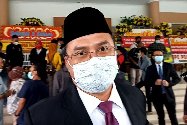 Gubernur Kepulauan Bangka Belitung Erzaldi Rosman di kantor DPRD, Senin (1/2/2021).