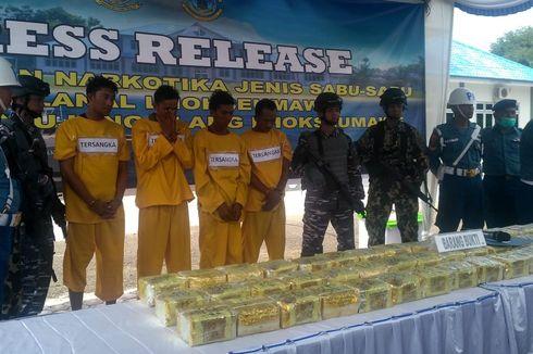 TNI AL Tangkap 4 Penyelundup Narkoba, 50 Kg Sabu asal Thailand Disita