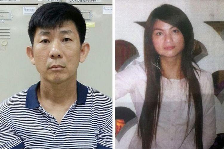 Boh Soon Ho (foto kiri) diadili Pengadilan Singapura karena membunuh Zhang Huaxiang (foto kanan).