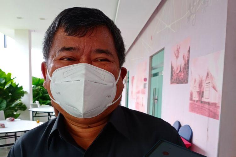 Bupati Garut Rudy Gunawan saat diwawancara soal perubahan status Gunung Cikuray di Fave Hotel, Kamis (19/11/2020)