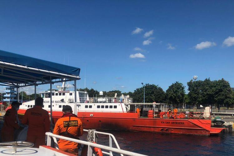Basarnas Bali turut terlibat dalam operasi pencarian KRI Nanggala-402 yang hilang kontak di perairan utara Bali, Rabu (21/4/2021).