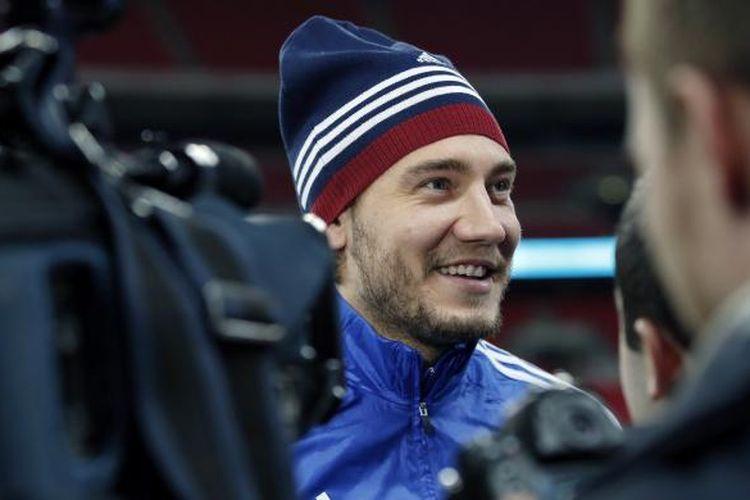 Penyerang Denmark, Nicklas Bendtner.