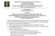 Jadwal dan Lokasi Tes SKD CPNS 2019 di Kemenkumham Diumumkan, Ini Detailnya